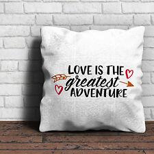 Amour Est Le Plus Beau Aventure Coussin - St. Valentin Anniversaire Maison