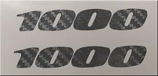 CARBON FIBER REPLICA GSXR CBR 1000   STICKER DECAL (2)