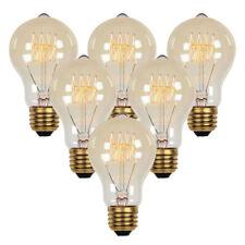 6 PCS 40/60W Vintage Retro Industrial Edison Lamp Filament Light Bulb Globe E26