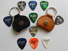 Rotosound Cuir Pick/Pochette Porte-clés + 5 x Jim Dunlop Guitar Médiators