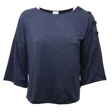 C4518 maglia donna ARMANI manica 3/4 blu navy t-shirt woman