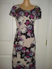 INC Wear to Work Cap Sleeve  Floral Print  Shift Dress Sz M, L, XL
