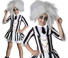 Girls Official DELUXE BEETLEJUICE Fancy Dress Costume Halloween Kid Spooky Child