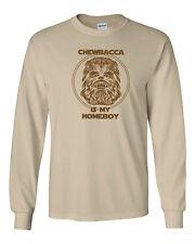 210 Chewbacca is my Homeboy Long Sleeve wookiee star geek wars vintage jedi new