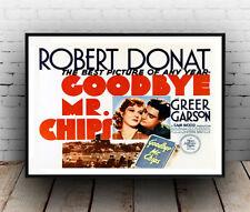 Adiós Señor chips, Vintage Reproducción de Publicidad, Cartel De Cine.