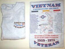 VIETNAM WAR U.S. AIR FORCE UNIT & OPERATION MILITARY  2 SIDED SHIRT