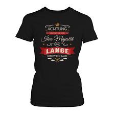 Majestät Frau Lange Damen T-Shirt Spruch Geschenk Idee Familienname Nachname JGA