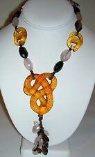 Authentic $2895 LALIQUE Serpent Pierres Fines Quartz Crystal Necklace #037/188