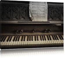 Antiguo Piano con Partitura Foto en Lienzo Decoración de Pared