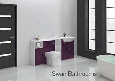 Aubergine brillant meubles de salle de bain monté 1700mm