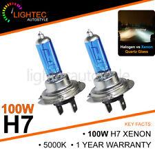 H7 100W HID WHITE XENON HALOGEN BULBS 12V PLASMA UPGRADE 5000K-6000K CANBUS