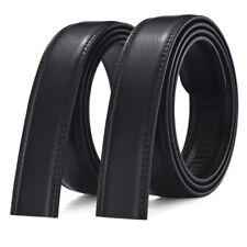 hommes non boucle ceinture cuir synthétique AUTOMATIQUE lanière affaires taille