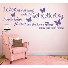 Wandtattoo Spruch  Leben ist Schmetterling Wandsticker Wandaufkleber Sticker 3