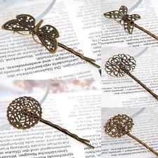 Haarklammer-Haarspangen-Bronzefarben Filigran Blume