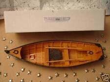 "Wood ROW BOAT Skif Dory CANOE model rowboat skiff aprx 15"" nautical theme wooden"