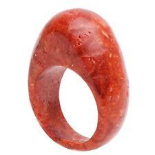 Ring aus echter Koralle Schaumkoralle, mit Wölbung, massiv, Korallenring, Damen