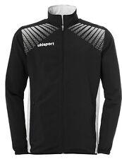 Uhlsport Mens Goal Sports Football Full Zip Jacket Tracksuit Top Black White