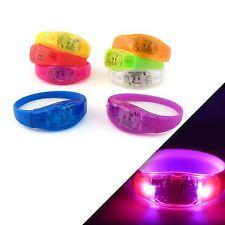 LED Sound Music Activated Hen Do Party Bracelet Dancing Festival Disco Bangle UK