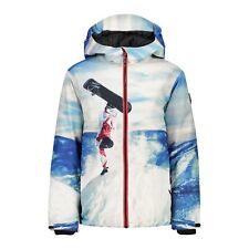 CMP Ski Jacket Snowboard Jacket Boy Jacket Fix Hood White Windproof Twill