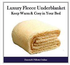 Warm Thermal Fleece Underblanket Mattress Cover Topper Single Double King