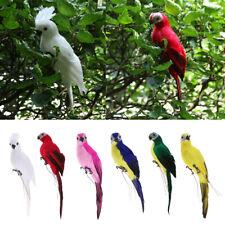 Lifelike Bird Ornament Figurine 35cm Parrot Model Toys Statue Lawn Sculpture