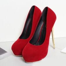Platform Men's High Heels Crossdresser Pumps Drag Queen Black Suede Large Shoes