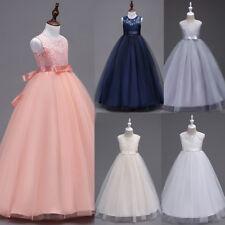 Party Wedding Bridesmaid Formal Dresses BOW Girl Princess Dress Flower For Kids