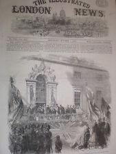Presentation to Wilts army volunteers Wilton House Salisbury 1864 old print