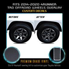 For 2017-2020 4Runner TRD Off Road Wheels Rim x4 Vinyl Decals Matte Carbon Fiber
