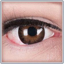 Farbige braune schwarz Big Eyes Kontaktlinsen mit Stärke dunkelbraun