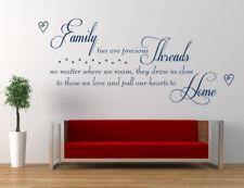 Famiglia thread POESIA Preventivo Adesivo, Vinile Muro ARTE Adesivo, Decalcomania Murale