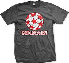 Denmark Danish Danmark Flag Euro 2012 Soccer Ball New Men's T-shirt