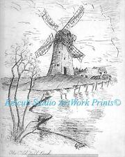"""Old Mill Pond"" RARE StKenan Art Chicago Artist Print of 1940 Original"
