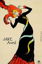 Vintage POSTER.Stylish Graphics.Jane Avril.French Nouveau Art Decor 428