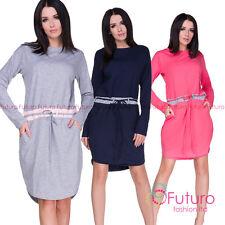 Ultra Forma Ceñida Cordón a la Cintura Vestido con Manga Larga, Extragrande 8-14