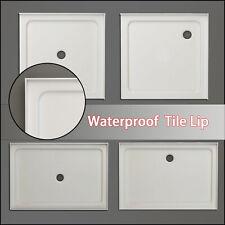 Square Durable Acrylic Fiberglass Shower Base DIY Various Sizes