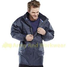b-dri Guardian Acolchado Impermeable Chaqueta de trabajo Liso Azul Marino Hombre