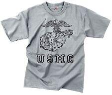 Vintage USMC Grey T-Shirt Mens Globe & Anchor Military Tee Shirt S-3XL
