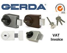 Gerda Alta Calidad Montado en Superficie Puerta Cerradura 3 llaves 4 Colores ZN100