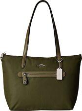 COACH Women's Zip Tote Nylon Putty Tote Beige Surplus Green $278