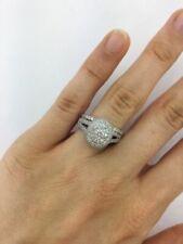 2.38 Ct Round Cut Diamond Bridal Engagement Wedding Ring Set 14K White Gold Over