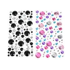Round Bubble Gems 3D Rhinestone Stickers, 100-Piece