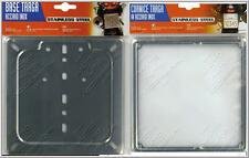 Base targa moto in acciaio inox  + cornice portatarga inox coordinati.-