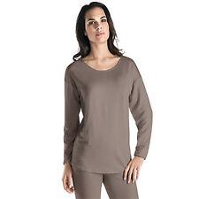 Hanro Lounge Shirt Chelsea- Lyocell/ Elasthan- Fb dusty olive- Größe XS bis XL