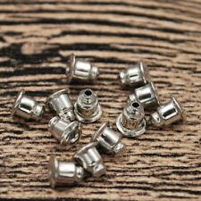 100PCS Earring Backs Bullet Barrel Earnut Stopper Safety Clutch Ear Nut 6x5mm