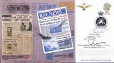 CC72c RAF News Official 1000th Edition signed cover RAF news editor