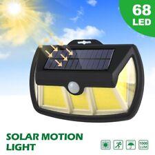 New listing 68 Cob Led Solar Wall Light Outdoor Garden Security Motion Sensor Lamp 1000Lm
