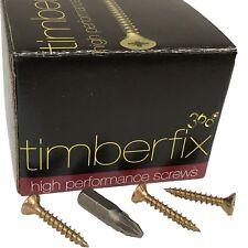 8g 4mm x 25mm PREMIUM CHIPBOARD PLY WOOD TIMBER SCREWS POZI CSK TIMBERFIX 360