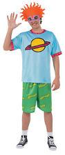 Rugrats Chuckie Top Adult Costume Blue Shirt Halloween Fancy Dress Rubies