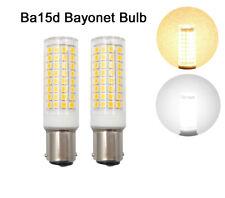 2x Ba15d Bayonet Base Led Bulb 102-2835SMD LED 9W 110V Ceramics Light White/Warm